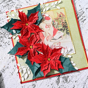 Poinsettia Petal & Leaves Decor Dies