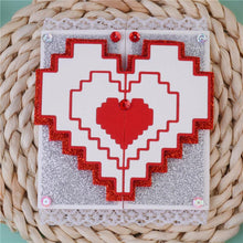 Load image into Gallery viewer, Stripe Love Heart Decor Dies