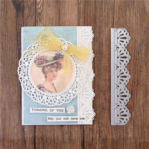 Lace Crown Frame Side Border Decor Dies