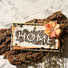 "Load image into Gallery viewer, ""Home"" Word Flower Boder Decor Dies"