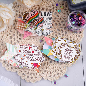 Love Words Label Stamps Set