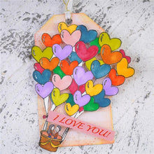 Load image into Gallery viewer, Love Heart Hot Air Balloon Decor Stamps