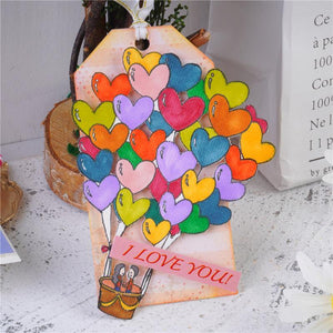 Love Heart Hot Air Balloon Decor Stamps