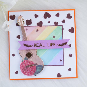 Love Shape Background Stamps