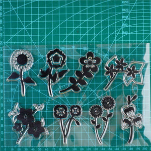Multiple Blooming Flowers Stamps
