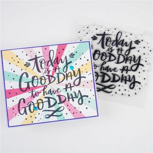 """Today is a good Day"" Word Stamps"