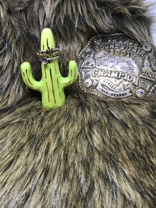 Cactus Ring Holder-Lime