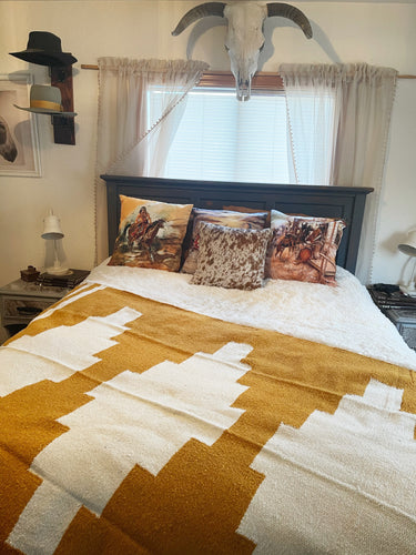 The Pueblo Blanket-Mustard