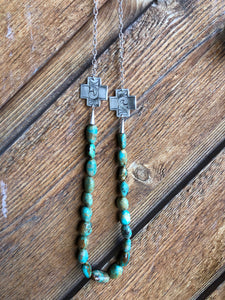 Oakley II- Turquoise & Silver Necklace