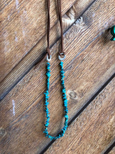 Mabel-Turquoise & Leather Necklace