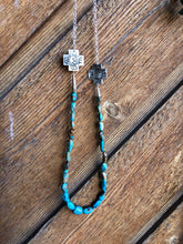 Oakley III-Turquoise & Silver Necklace