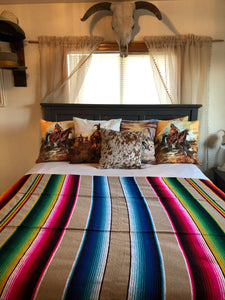 The Saucy Señorita-Serape Throw Blanket