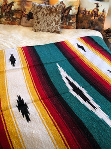 Rio Grande-Turquoise Throw Blanket