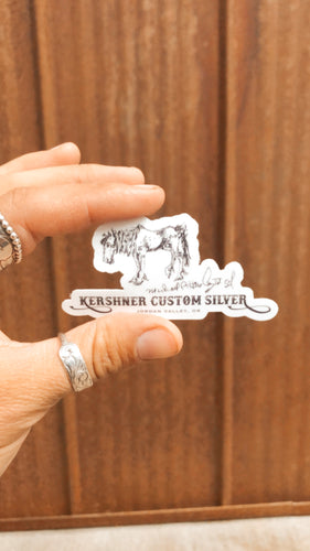 Kershner Custom Silver Sticker