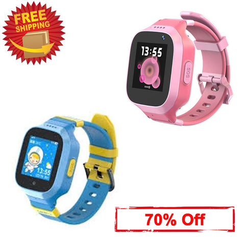 (70% off) Waterproof 3G GPS Watch for Kids SOS Real-time Anti-Lost GPS Tracker Camera Geo-Fence Step Counter Text Voice Message Remote Monitor Kids GPS Smart Watch