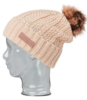 Rojo Textured Ribbed Beanie