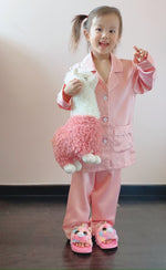Stay in Satin (Kids) Long Sleeves Set in Sweet Pink
