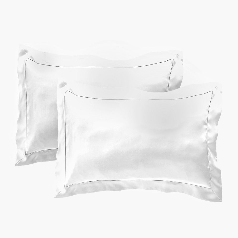 Stay In Satin - Satin Pillowcase in White