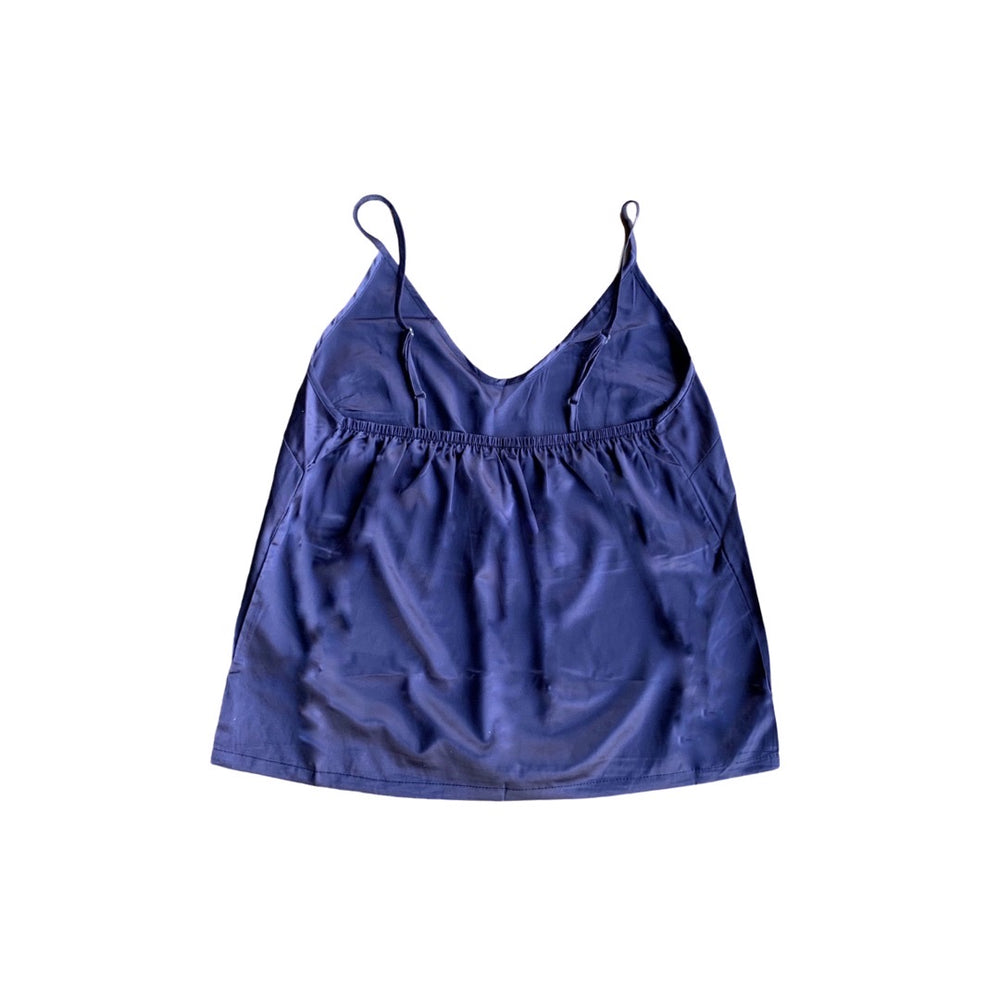 Stay in Satin - Camisole Set in Navy