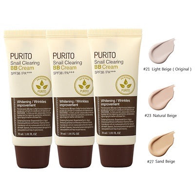 Purito Snail Clearing BB Cream SPF38+++ #21/#23