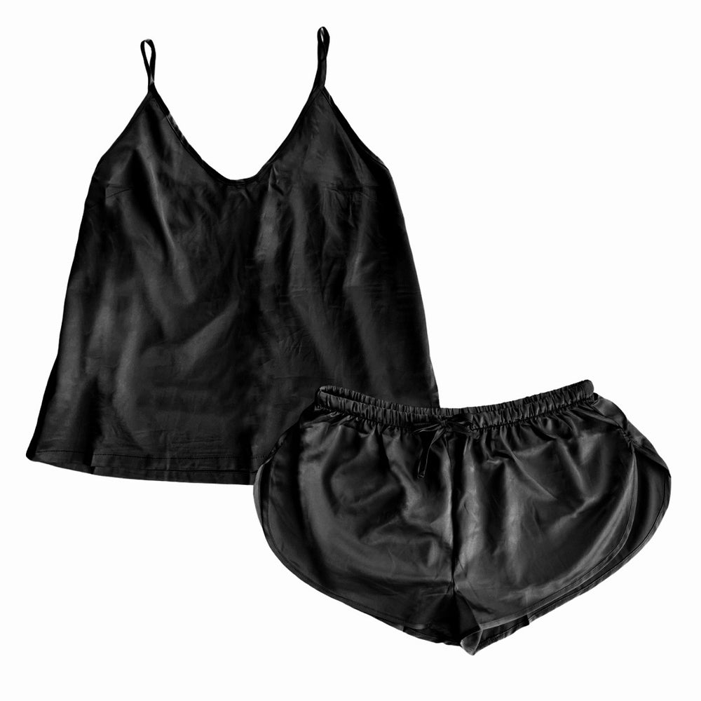 Stay in Satin - Camisole Set in Black