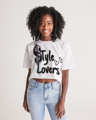 Style lovers  Women's Cropped Tee - Londons Alley