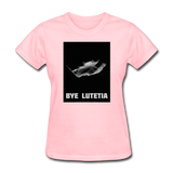 Rosetta departing Asteriod Lutetia - Space Themed T-Shirt Womens - pink