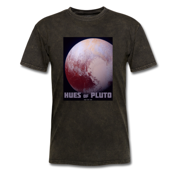 Hues of Pluto Space Themed Tshirt - Mens - mineral black