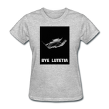 Rosetta departing Asteriod Lutetia - Space Themed T-Shirt Womens - heather gray