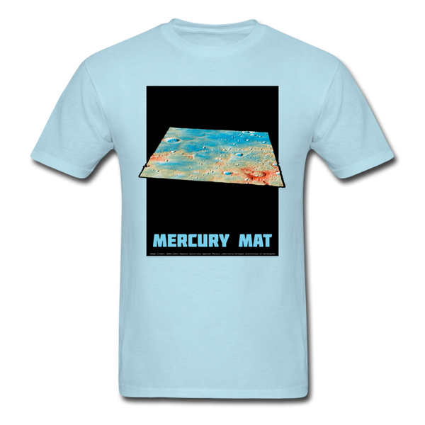 Mercury's surface where MESSENGER landed - Space Themed Tshirt for Men - powder blue