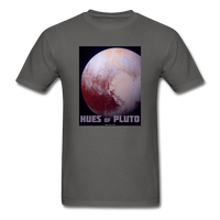 Hues of Pluto Space Themed Tshirt - Mens - charcoal