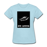 Rosetta departing Asteriod Lutetia - Space Themed T-Shirt Womens - powder blue