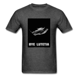 Rosetta departing Asteriod Lutetia on a Space Themed T-Shirt - heather black