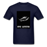 Rosetta departing Asteriod Lutetia on a Space Themed T-Shirt - navy