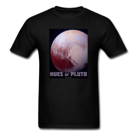 Hues of Pluto Space Themed Tshirt - Mens - black