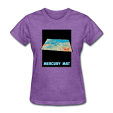 Mercury's surface where MESSENGER landed - Space Themed Tshirt Womens - purple heather