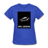 Rosetta departing Asteriod Lutetia - Space Themed T-Shirt Womens - royal blue