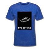 Rosetta departing Asteriod Lutetia on a Space Themed T-Shirt - mineral royal