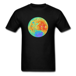 Moon Topographic Map Space Themed T-Shirt - Men's - black