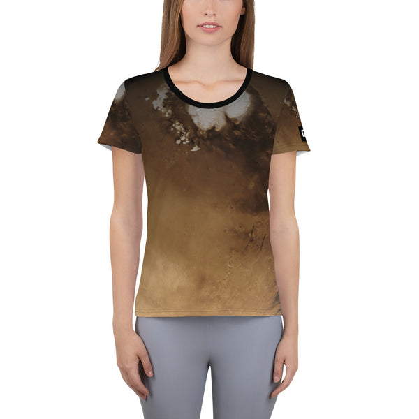Mars North Pole on Space Themed T-Shirt - Women's