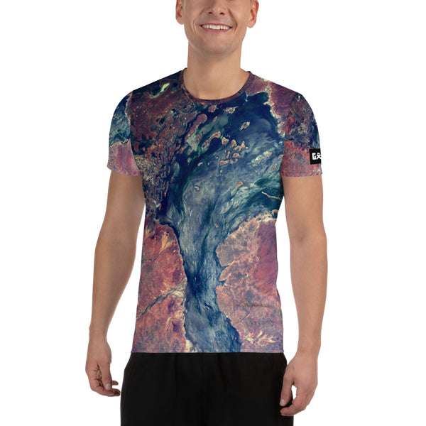 Australian Outback from ISS on Space Themed Tshirt - Men's