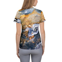 Jupiter Gas Patterns on Space Themed Tshirt - Men's