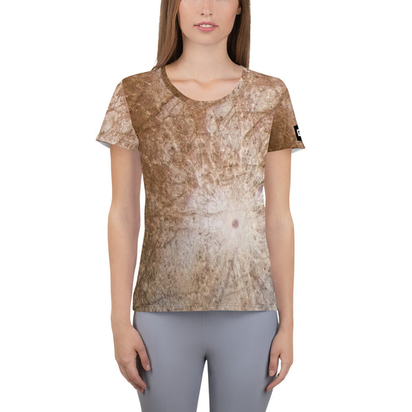Europa's Stunning Surface on Space Themed Tshirt - Men's