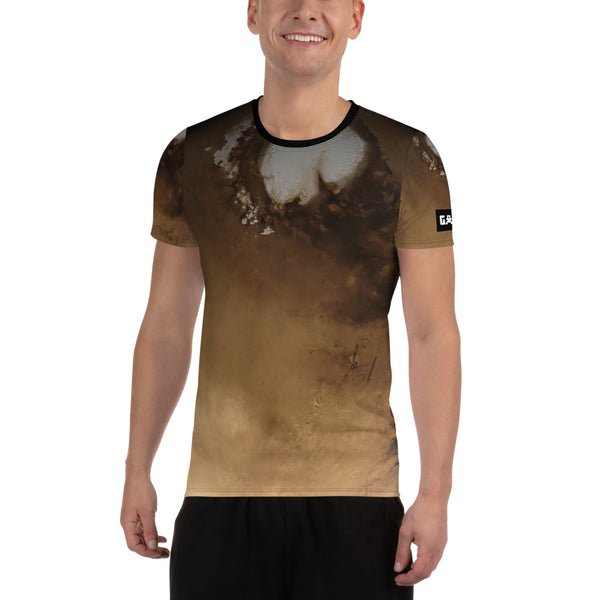 Mars North Pole on Space Themed T-Shirt – Men's