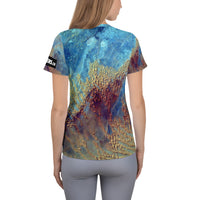 Sahara Desert from ISS on Space Themed Tshirt - Women's