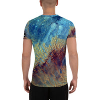 Sahara Desert from ISS on Space Themed Tshirt - Men's