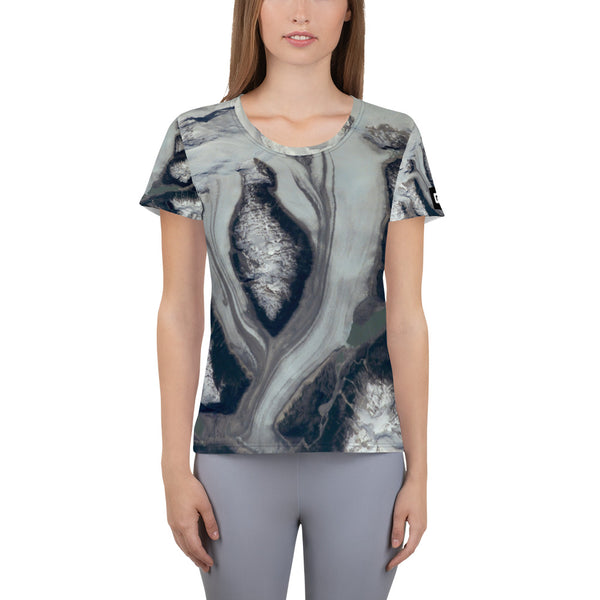 Andes Mountains from ISS on Space Themed Tshirt - Women's