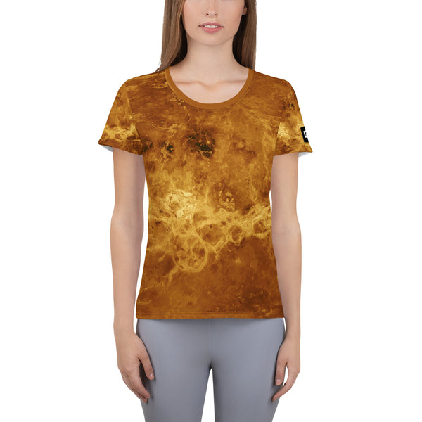 Venus Cylindrical Map on Space Themed T-Shirt - Men's