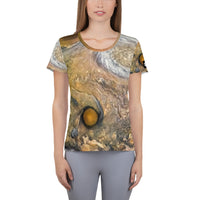 Jupiter Cloud Patterns on Space Themed Tshirt - Women's
