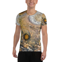 Jupiter Cloud Patterns on Space Themed Tshirt - Men's